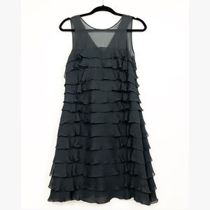 Marc by Marc jacobs Silk Blck Tiered layered dress